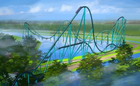 SeaWorld's Mako will be the tallest, fastest and longest roller coaster in Orlando when it opens June 10. (PRNewsFoto/Visit Orlando)