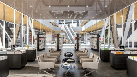 Interior retail rendering (PRNewsFoto/Swire Properties Inc)