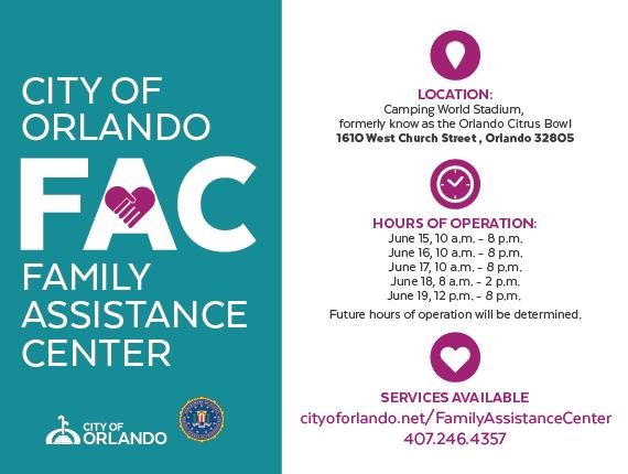 Horario de Operaciones del Centro de Asistencia para Familias